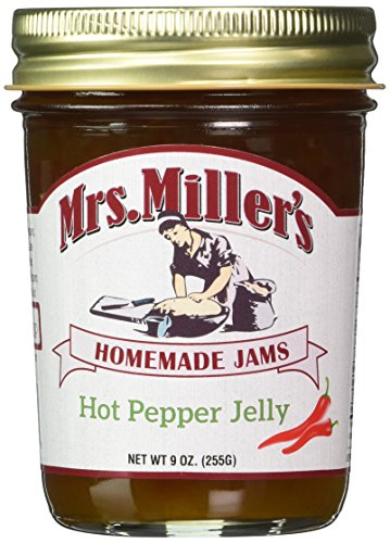 (Mrs. Miller's Amish Made Hot Pepper Jelly 9 Ounces - 2)