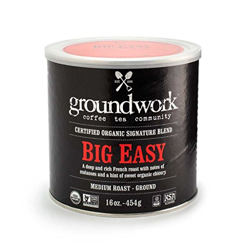 - Groundwork Coffee Organic Big Easy Ground, 16 Ounce Cans (Pack of 2)