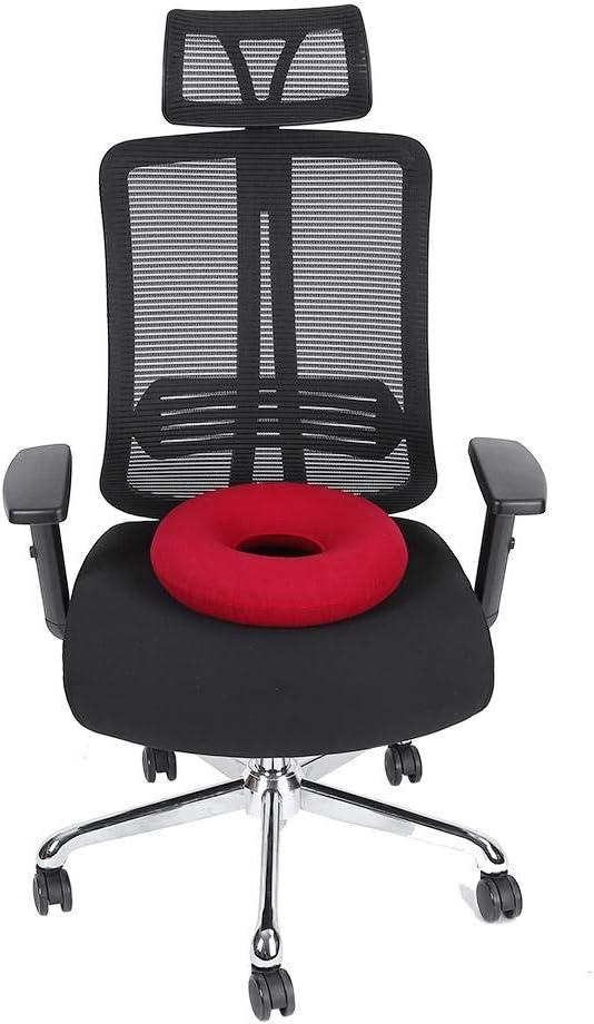 Cuscino Sedile Rosso Sedia per Emorroidi i dolori a coccige Traspirante per Home Car Office Riduce la sciatalgia Cuscino da Seduta a Forma di Ciambella
