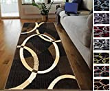 Handcraft Rugs Chocolate/Brown/Beige Abstract Area Rug Modern Contemporary Oval/Circle Pattern