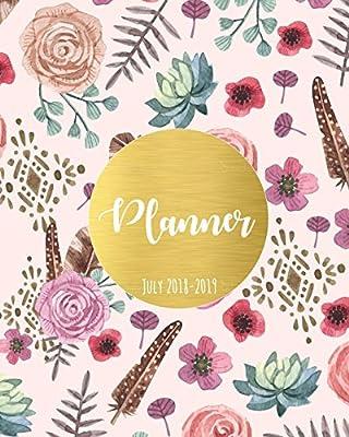 College Planner July 2018-July 2019 Student Planner Calendar Schedule Organizer and Journal Notebook Planner July 2018-2019