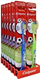 Colgate Kids Toothbrush for 5+ Years Extra Soft Bristles Soccer Princess (12 Pack, Boys)