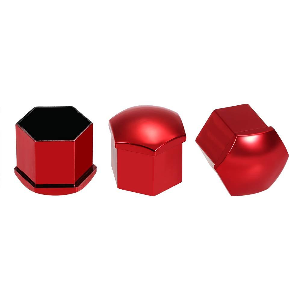 20pcs Universal 21mm Wheel Nut Covers Lug Nut Caps Screw Protector