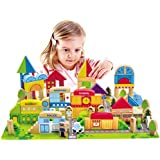 Hape - City Building Blocks Wooden Stacking Set