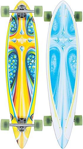 DUSTERS LONGBOARD STORM 39 YELLOW BLUE KOMPLETT