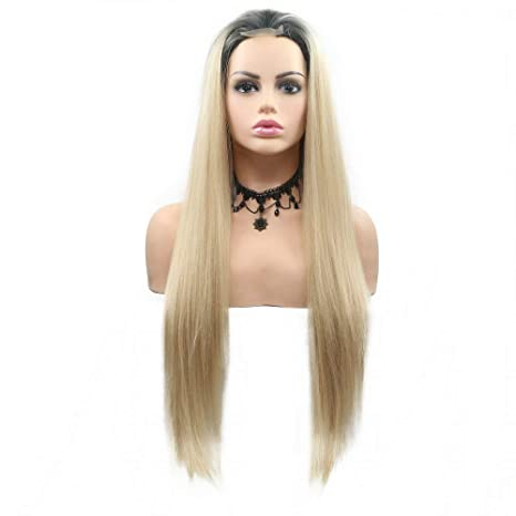 Peluca rubia de pelo sintético para mujer, para verano, fiesta ...