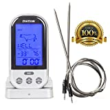 Zvation Wireless Meat Thermometer – BBQ, Grill, Smoker or...