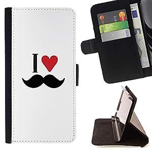 For LG G4 Stylus / G Stylo / LS770 H635 H630D H631 MS631 H635 H540 H630D H542 Case , Capa Amo el corazón del bigote- la tarjeta de Crédito Slots PU Funda de cuero Monedero caso cubierta de piel