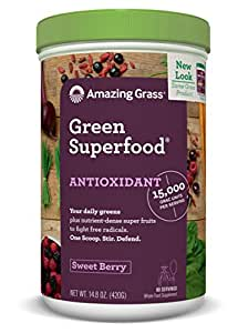 Amazing Grass Green Superfood Antioxidant Sweet Berry, 60 servings, 14.8 Ounces