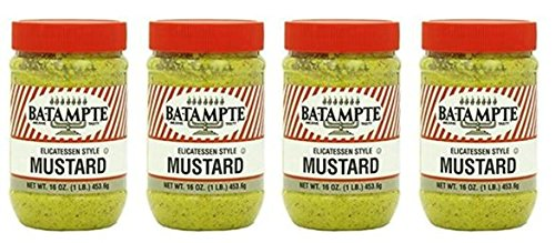 Ba Tampte Mustard, 16 Ounce (Pack of 4)