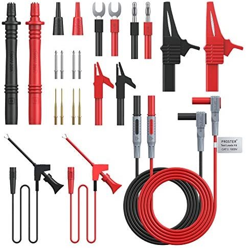 Multi-meter Probe Cable Probe Replacement Clamp Tools PVC-Wire Parts Practical
