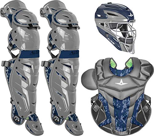 All-Star Adult System7 Axis Digi Camo Pro Catcher's Set (Cheap Catching Gear)