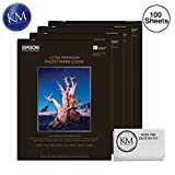 Epson Ultra Premium Photo Paper Luster 17 x 22'' 4 Pack (100 Sheets) & Cloth