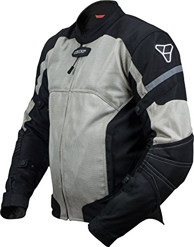 Pilot Motosport Men's Direct Air Mesh Motorcycle Jacket (V3) (Silver, XX-Large) ()