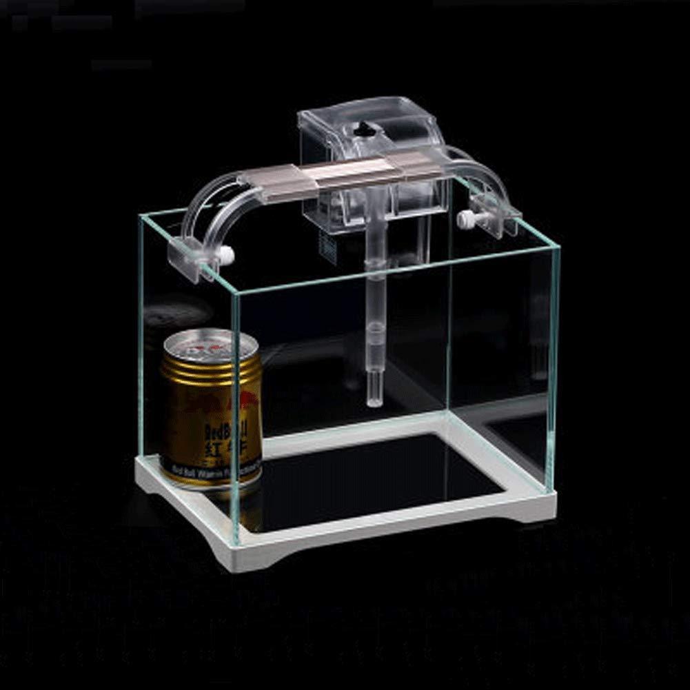 6 JIANGU Fish Tank, Ultra White Glass Aquarium, Living Room Ecological Fish Tank (8)