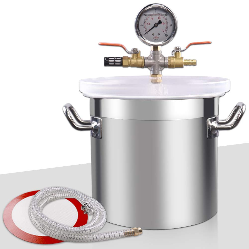 VI-CO 5 Gallon Upgrade Stainless Steel Vacuum Chamber for Degassing Urethanes, Resins, Silicones and Epoxies by VI-CO