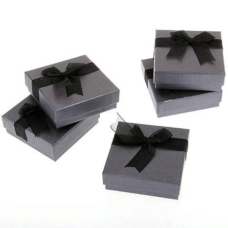 Skyllc® Joyería Plaza regalo cajas Bowknot cartulina cajas pulsera brazalete reloj caja negro 90 *
