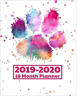 Rubys Pantry Food List 2020.2019 2020 18 Month Planner Watercolor Pawprint Gifts Weekly