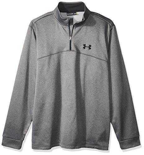 Under Armour Men's Storm Armour Fleece 1/4 Zip, Carbon Heather (090)/Black, - Fleece Tech Armour Under