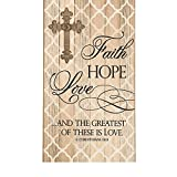 Bargain World Faith, Hope, Love Wall Plaque (With Sticky Notes)