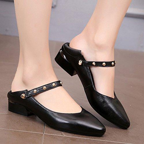 Cuero Pu Qidi Zapatos Transpirable Casuales Moda T 2 Mujer color Eu38 uk5 1 Plano Tamaño Fondo 5 De T qrrzwR