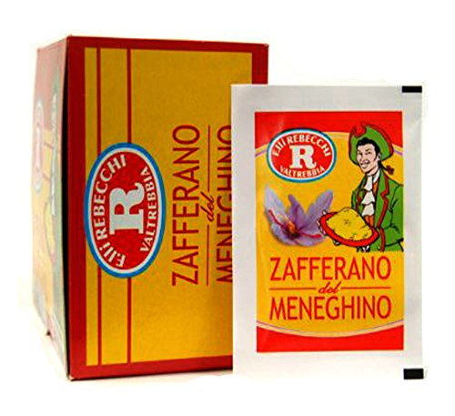 Rebecchi Zafferano Del Meneghino Italian Saffron Powder, 0.125 Gram - 50 Packs – 1 Case - Chefs Choice. by Rebecchi (Image #1)