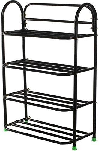 Patelraj Metal Shoe Rack 4 Tiers Home Storage   Organization