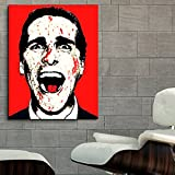 #02RD Poster Mural Movie American Psycho Christian Bale 40x50 in (100x125 cm) Adhesive Vinyl