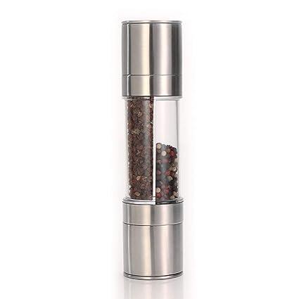 Premium Stainless Steel Ceramic Dual Salt And Pepper Grinder Mill Adjustable Coarseness Other Kitchen Tools & Gadgets Mills
