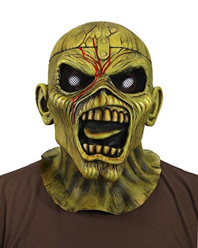 Iron Maiden Eddie Costume (NECA - Iron Maiden Eddie Piece Of Mind Costume Latex Mask 33791)