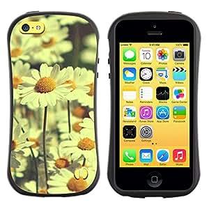 LASTONE PHONE CASE / Suave Silicona Caso Carcasa de Caucho Funda para Apple Iphone 5C / daisy field daisies vignette yellow field