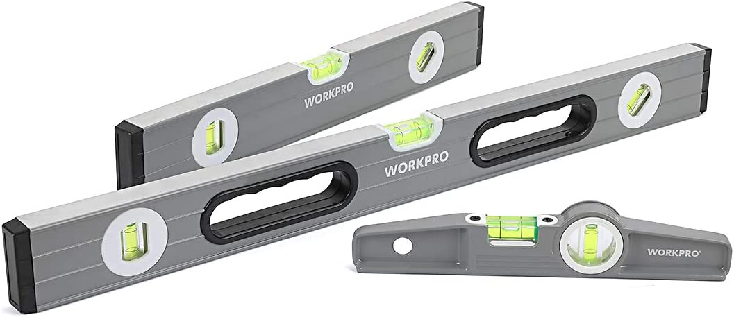 WorkPro 3-Piece Spirit Level Set