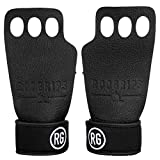 RooGrips 3 Finger Australian Leather Hand Grips for WODs. Slim Design with Ultimate Strength and Durability.