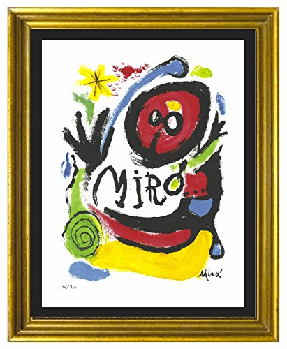 Joan Miro Signed & Hand-numbered Limited Edition Lithograph Print,