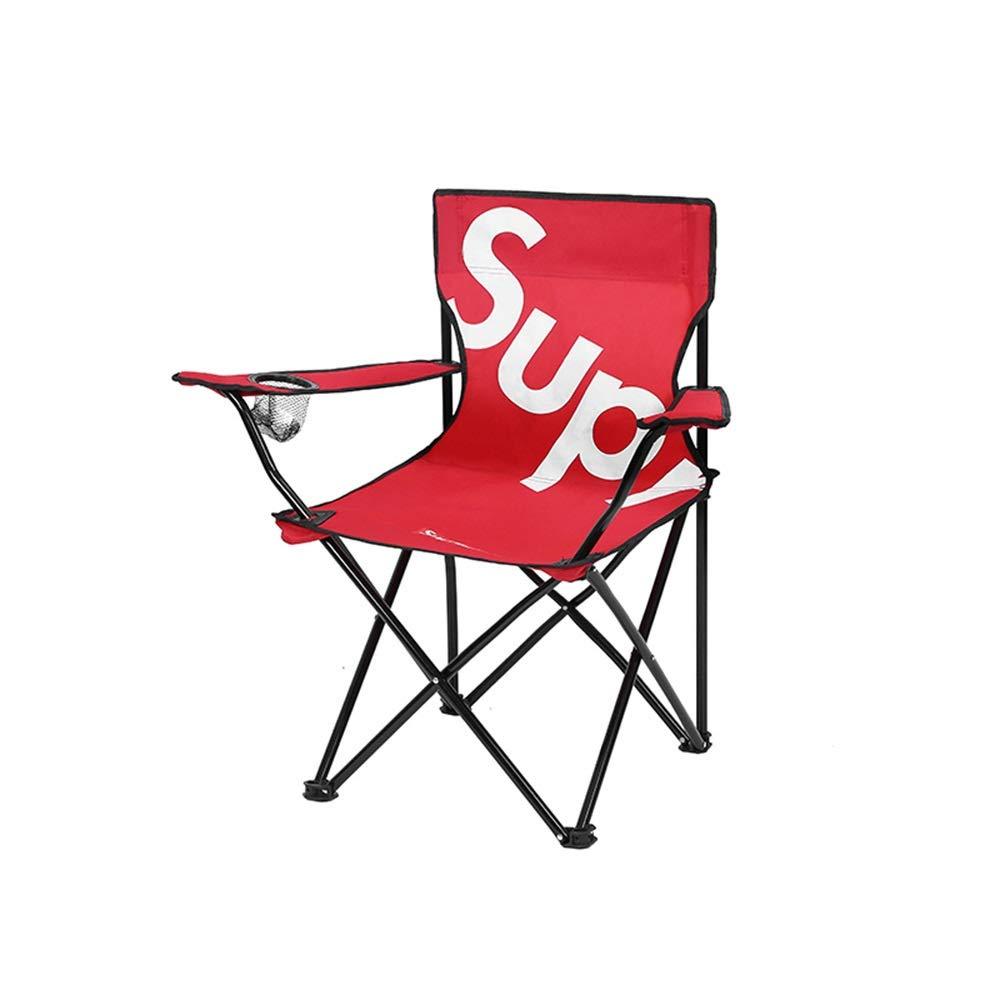 rouge S XBZDY Chaise Pliante en Plein Air, Chaise De Pêche Pliante Tabouret De Camping Pliant Mazar Petite Chaise De Plage, Noir, Rouge, Taille en Option