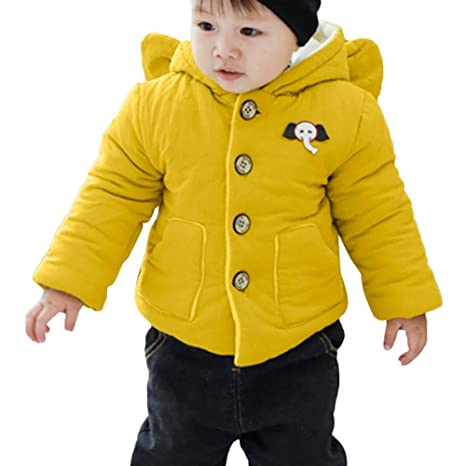 d8e0b2d26 Fineser Baby Clothes Winter Baby Coat, Infant Toddler Baby Boys Girls  Hooded Pockets Thick Warm