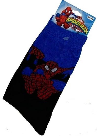 Infantil Spiderman & Friends Oficial Personaje Con Licencia Calcetines Elige 3 Diseños Unisex - Swing,