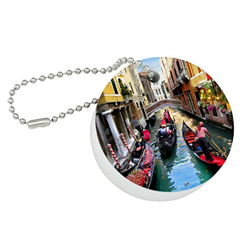 Graphics and More Venice Italy Gondolas Canals Round Floating Foam Fishing Boat Buoy Key Float Keychain (Italy Fishing Boats)