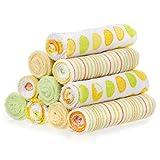 10 Pack washcloth, Yellow/Green Dots