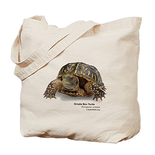 CafePress - Ornate Box Turtle - Natural Canvas Tote Bag, Cloth Shopping - Shopping Dfw