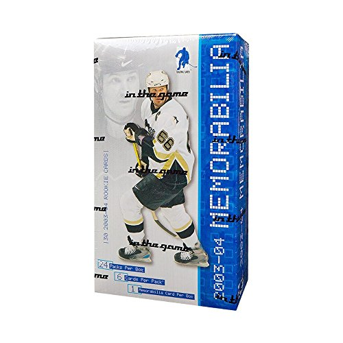 - 2003-04 In The Game Be A Player Memorabilia Hockey Hobby Box