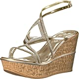 Love & Liberty Women's Selina-Ll Wedge Sandal, Platinum, 9 M US