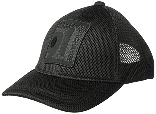 Armani Exchange Men's Mesh Baseball Hat, Black, One Size