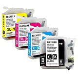 G&G Compatible Brother 103 Ink Cartridges (High Capacity LC-101) for MFC-J6920DW, MFC-J6520DW, MFC-J470DW, DCP-J152W, MFC-J470DW, MFC-J870DW and other Printers - 4 Pack