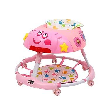 LJXWYQ Andador para bebé,con luz y música,Evite vuelcos, Plegable ...