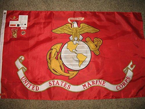 3x5 U.S. Marines Marine Corps USMC Solarmax Nylon 210D Flag