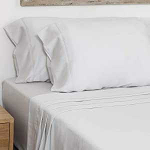 Olive + Crate Cooling Pillow Cases Made from Tencel Lyocell Eucalyptus That Feel Like Silk and Satin Pillowcase, for King and Queen Size Pillows