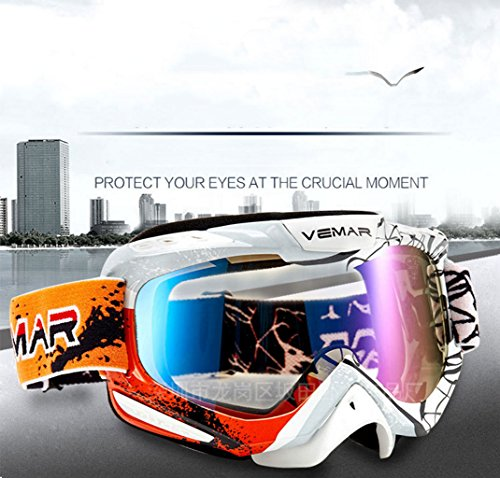 Material Gafas montaña Prueba a de F de Prueba Arena esquí explosiones de Parabrisas antivaho de Ciclismo PC z1Sgn8Az