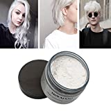 #2: MOFAJANG White Hair Color Wax, Natural Hairstyle Wax 4.23 oz, Temporary Hairstyle Cream for Party, Cosplay, Halloween, Daily use, Date, Clubbing (White)