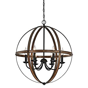 quality design 9ac2b 7b950 Westinghouse Lighting 6333600 Stella Mira Six-Light Indoor Chandelier,  Barnwood and Oil Rubbed Bronze Finish